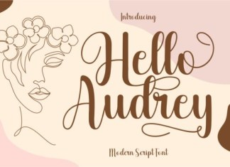 Hello Audrey Font