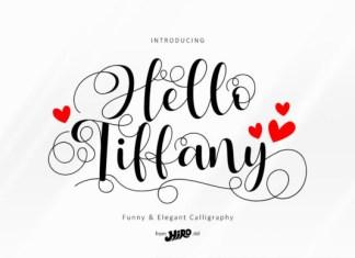 Hello Tiffany Font