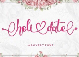 Holidate Font