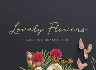 Lovely Flowers Font