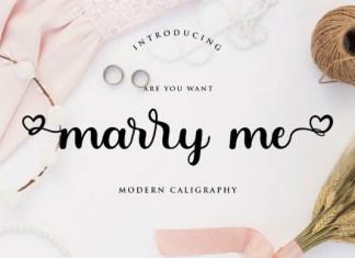 Marry Me Font