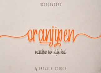 Oranjipen Font