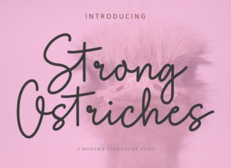 Strong Ostriches Font