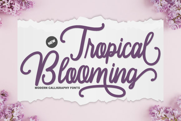 Tropical Blooming Font