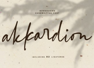 Akkardion Font
