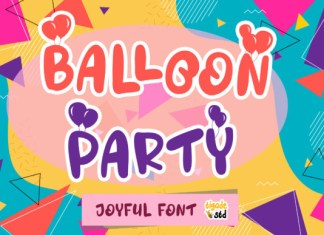Balloon Party Font