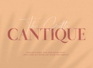 Cantique Font