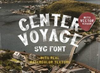 Center Voyage Font