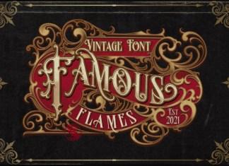 Famous Flames Font