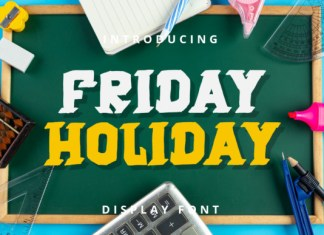 Friday Holiday Font