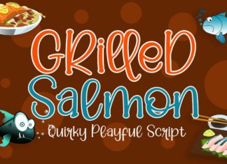 Grilled Salmon Font
