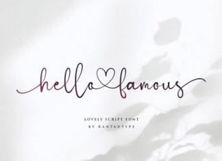 Hello Famous Font