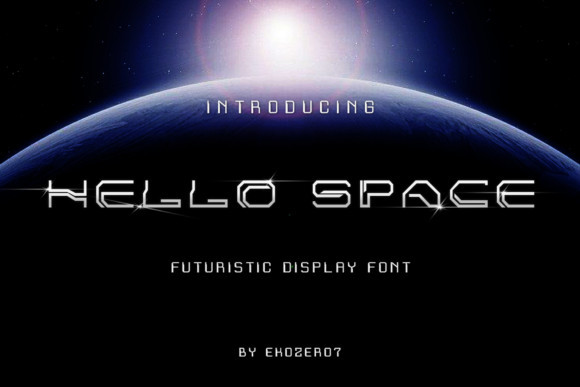 Hello Space Font