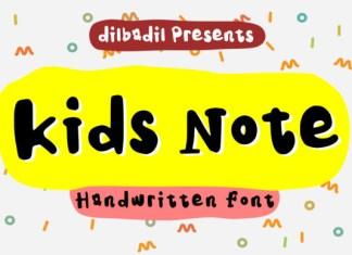 Kids Note Font