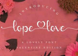 Lope Love Font