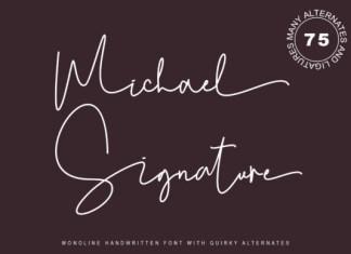 Michael Signature Font