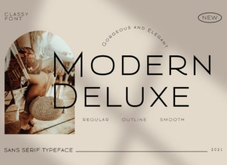 Modern Deluxe Font
