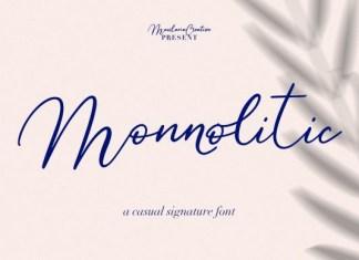 Monnolitic Font