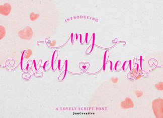My Lovely Heart Font