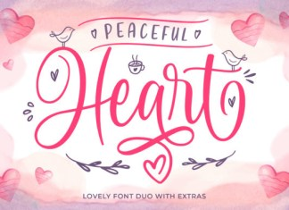 Peaceful Heart Font