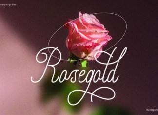 Rosegold Font