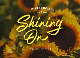 Shining On Font
