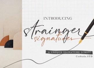 Strainger Signatures Font