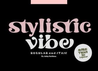 Stylistic Vibe Font