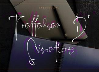 Trafalgar D' Signature Font