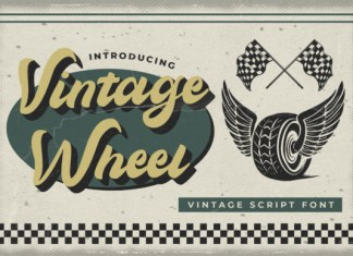 Vintage Wheel Font