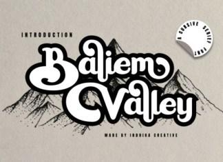 Baliem Valley Font