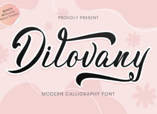 Dilovany Font