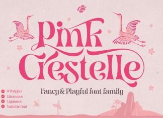 Pink Crestelle Font