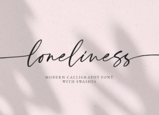 Loneliness Font