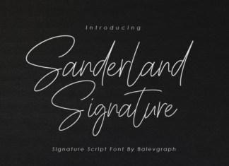 Sanderland Signature Font