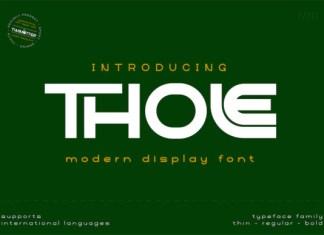 Thole Font