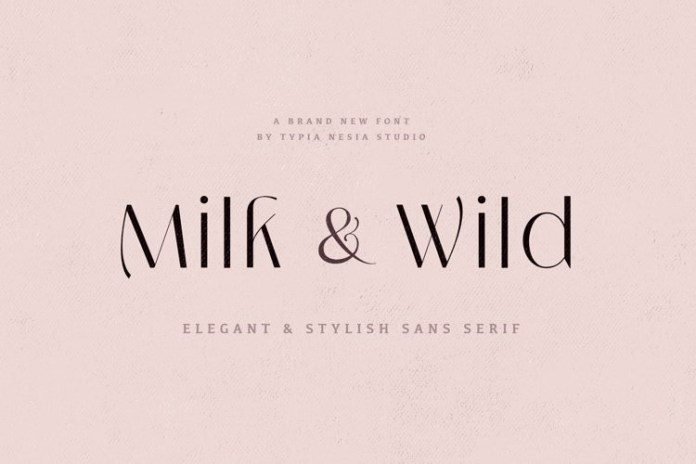Milk and Wild Font