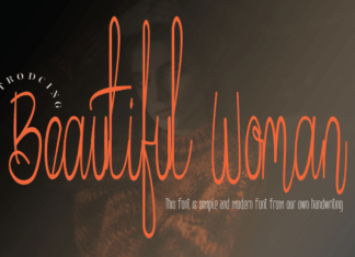 Beautiful Woman Font