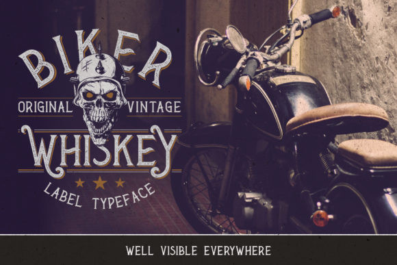 Biker Whiskey Font