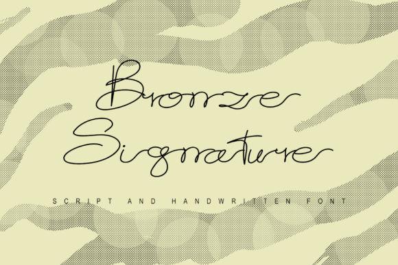 Bronze Signature Font