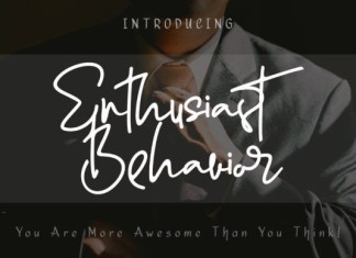 Enthusiast Behavior Font