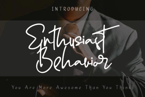 Enthusiast Behavior Font