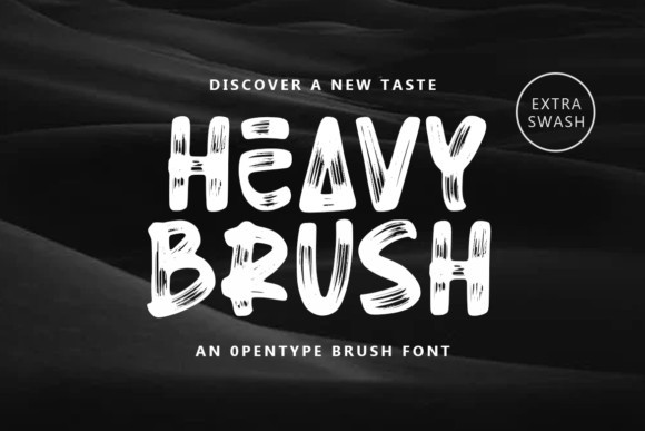 Heavy Brush Font