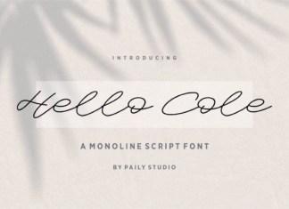 Hello Cole Font