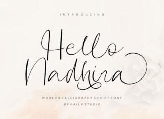 Hello Nadhira Font