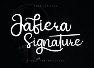 Jafiera Signature Font