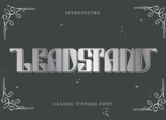 Leadstand Font
