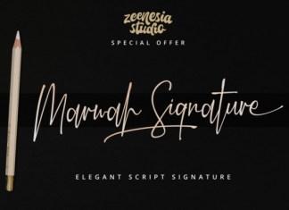 Marwah Signature Font