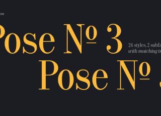 Bw Pose Font