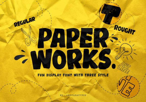 Paper Works Font